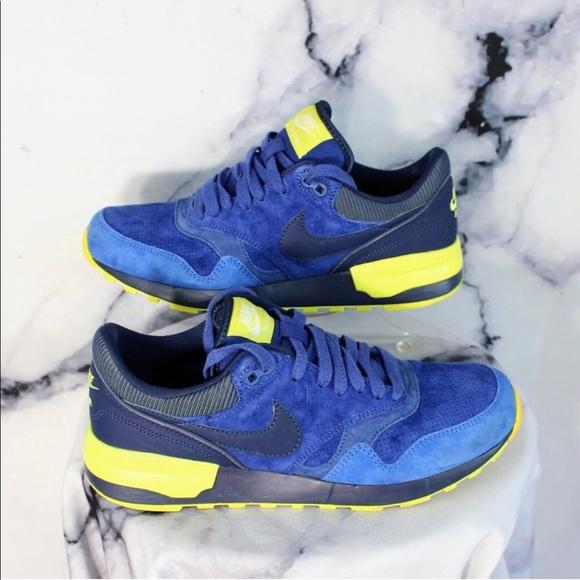 Nike Air Odyssey Blue Suede Leather Trainers Sz8. M 5a4cdc68c9fcdfdc8d00fb57 59faf93047